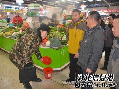 敦化市副市长陈刚带队检查春节消防安保工作