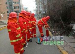 敦化新闻网 民主街微型消防站演练